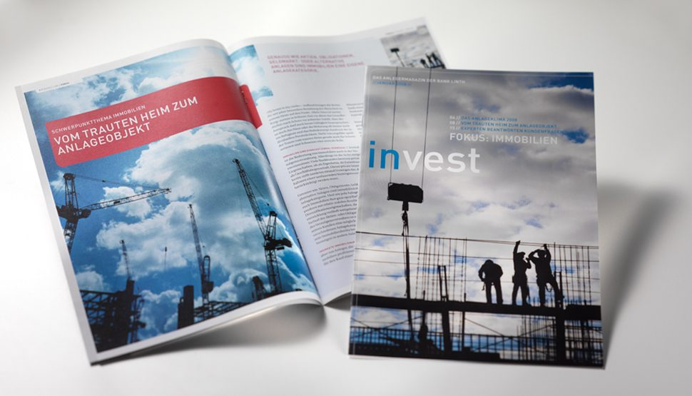 "Anlegermagazin ""invest"" der Bank Linth"